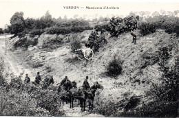 7143. LOT 2 CPA GUERRE 1914 WW1. 55 VERDUN. MANOEUVRE D'ARTILLERIE. - Verdun