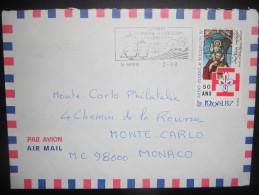Saint Pierre Et Miquelon , Lettre De Saint Pierre 1988 Pour Monaco - Lettres & Documents
