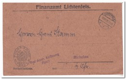 Lichtenfels 18.10.28. , Frei Durch Ablösung Reich - Covers & Documents