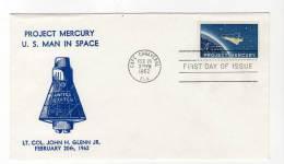LETTRE/ESPACE - USA - Cape Canaveral - 20/02/1962 - John Glenn - Project Mercury - Storia Postale