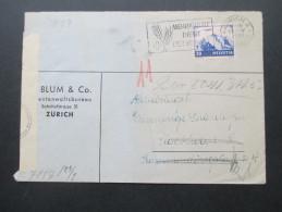 Schweiz 1943 Nr. 387 EF Nach Stockholm Zensur Der Wehrmacht / Chemische Zensur!! RRR (750 Punkte?!) - Briefe U. Dokumente