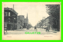 OTTAWA, ONTARIO - WELLINGTON STREET, ANIMATED IN 1905  - MONTREAL IMPORT CO - - Ottawa
