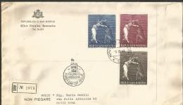 SAN11---  SAN MARINO   STORIA POSTALE,    FDC, RACCOMANDATA,   1968, - FDC