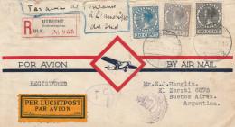 20, 60 En 27 1/2 Ct Op Recobrief Utrecht Koekoeksplein Naar Buenos Aires - Per Luchtpost  Vanuit Toulouse - 1930. - Periode 1891-1948 (Wilhelmina)