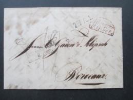 AD / Vorphila Bremen 1830 Segmentstempel TuT + L1 T.T.R.H. P. Givet. Ins Ausland? Interessanter Beleg!! - Bremen