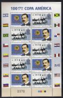 Uruguay (2016) Calcio/football: 100 Years Of The Copa America - Sheetlet [MNH]