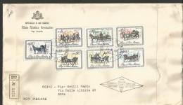 SAN13---  SAN MARINO   STORIA POSTALE,    FDC, RACCOMANDATA,   1969, - FDC