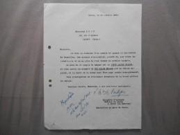 CRAON MAYENNE MARQUISE D´ANDIGNE CHÂTEAU DE CRAON COURRIER DU 30 OCTOBRE 1950 - Documents Historiques