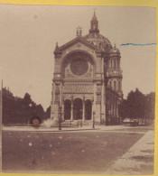 Photo Stereo 1860-1870 PARIS : L'EGLISE SAINT ST AUGUSTIN / Photo Stéréoscopique Sur Carton - Photos Stéréoscopiques