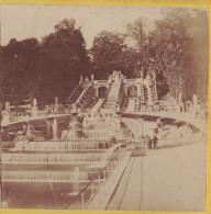Photo Stereo 1860-1870 PARIS : CASCADE DU PALAIS DE SAINT ST CLOUD / Photo Stéréoscopique Sur Carton - Photos Stéréoscopiques