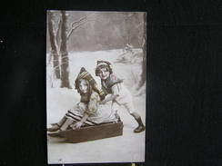 Co-1200 / Liège > Welkenraedt , Couple D'enfants Sur Une Luge - Circulé A Herbesthal   1903 - Welkenraedt