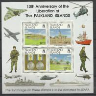 FALKLAND 1992 10th ANNIV. OF LIBERATION SHEET MNH - Falklandeilanden