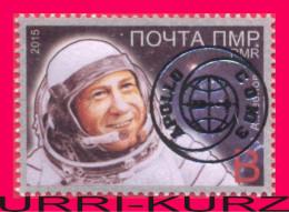 TRANSNISTRIA 2015 Space Joint Flight USSR & USA Soyuz-Apollo Golden Overprinted Cosmonaut Astronaut A.Leonov 1v MNH - Space