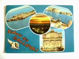 SALUTI  DA  GALLIPOLI      LECCE  VIAGGIATA  COME DA FOTO - Lecce