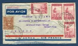 Argentine - Enveloppe En Recommandée De Rocamora Pour La France En 1940 - Réf. S 38 - Argentina