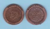 """TURQUIA - 1.000 LIRAS 1.995 KM#1028 Colección  """"MONEDAS DE EUROPA""""  SC/UNC  Réplica  T-DL-11.518 - Turquia"""