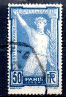 FRANCE   N°  186  Oblitere  Jo 1924