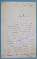 L.A.S 1858 Colonel ? (à Identifier) Au Général RENAULT - 32è Régiment D'Infanterie -Strasbourg Schramm Lettre Autographe - Autographes