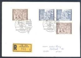 Austria Österreich 1976 Registered Cover: Space Weltraum Espace: 200 Jahre Burgtheater; Art Theatre; - Espacio