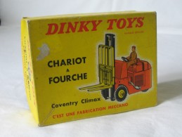 DINKY TOYS 597 Chariot A Fourche - Coventry Climax - Meccano Paris  **** EN ACHAT IMMEDIAT **** - Dinky