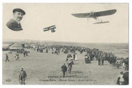 Léon MOLON (1881-1952) Sur Monoplan Blériot, Moteur Anzani - Grande Semaine D'Aviation 1910 - Belle Animation - Aviadores