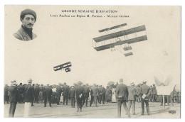 Louis PAULHAN (1883-1963) Sur Biplan H. Farman, Moteur Gnôme - Grande Semaine D´Aviation 1910 - Belle Animation - Aviadores