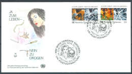 UN FDC - WE 1987 03 - Ja Zum Leben - Nein Zu Drogen - FDC