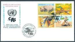 UN FDC - WE 1995 03BL4 - Gefährdete Arten (III) - Endangered Species - Espèces Menacées D'Extinction - FDC