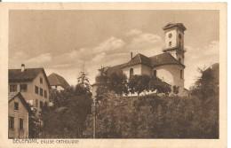 Schweiz, 1918,Delémont, Eglise Katholique, Füs.Komp. II/26 Feldpost Nach Steffisburg, Siehe Scans! - Switzerland