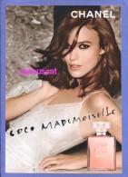 COCO MADEMOISELLE   PARFUM  Et EAU DE TOILETTE SPRAY By CHANEL PERFUME PARFUM CARD - Parfumkaarten