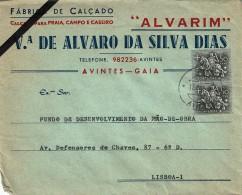 Portugal , 1953 , Medieval Knight , Chevalier Médiéval , Horse , Cheval  ,  Avintes Postmark 1972 - Militares