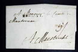 Belgium Complete Letter 1786 Cancel BRUSSEL To Maastricht - 1714-1794 (Oostenrijkse Nederlanden)