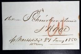 Netherlands Cover Amsterdam To The Hague Den Haag,  PER NACHT DILIGENCE  1850 - Niederlande