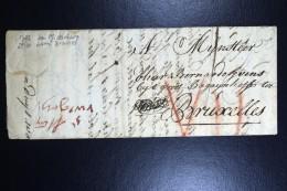 Complete Letter 1722 Middelburg To Bruxelles - 1714-1794 (Oesterreichische Niederlande)