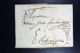 Complete Letter  1709 Amsterdam To Antwerp - ...-1852 Vorläufer