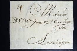 Complete Letter  1715 Amsterdam To Antwerp - ...-1852 Voorlopers