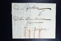 Complete Letter 1739 Dordrecht To Brussel - Niederlande
