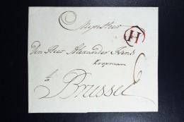 Complete Letter 1771 Rotterdam  To Brussel   Entry Cancel H Boxed 2x - Niederlande