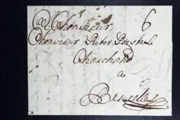 Complete Letter 1731  Rotterdam Bruxelles - ...-1852 Voorlopers