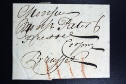 Complete Letter 1744  Dordrecht  To Bruxelles - ...-1852 Vorläufer