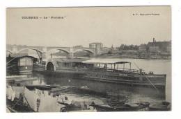 """SAÔNE-ET-LOIRE  /  TOURNUS  /  LE  """" PARISIEN """"  ( Bateau Avec Roue à Aube ) - France"""