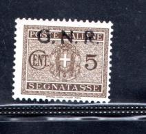 1944 R.S.I GNR 5 CENT SEGNATASSE NUOVO MNH** - Impuestos