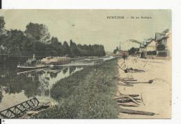 Pontoise  Carte Toilée  Ile Du Pothuis - Pontoise
