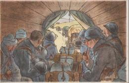 """Signée  Gabard    -    """" L,Auto """" - War 1914-18"""