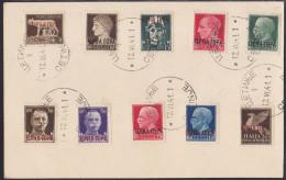 Definitives, Complete Set CTO On Ilustrated Card, Cetinje, 1941 - Montenegro