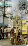CARTE-PREPAYEE-INTERCALL- 120U-31/12/1997-PLACE DU TERTRE-V°Auto Collant N° Téléphone-TB E - France