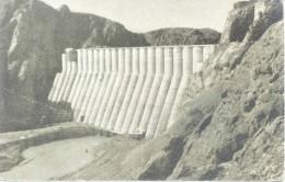 DIQUE FLORENTINO AMEGHINO EN CONTRUCCION CIRCA 1959 CHUBUT ARGENTINA - AGUA Y ENERGIA ELECTRICA CPSM DOS DIVISE RARISIME - Wijnbouw