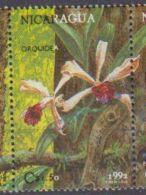 Nicaragua. 1992.  Orchidée Et Papillon . Orchid . Used - Orchidées