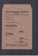 Spandau - Allemagne - Empire - Sachet Pour Salaire - Lohnagschlag - Heeres Zeugamt Spandau - Documenti Storici