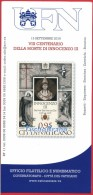 BOLLETTINO ILLUSTRATIVO 800° Papa INNOCENZO III 2016 Francobolli VATICANO PAMPHLET INNOCENT III VATICAN BROCHURE Timbres - Vaticaanstad